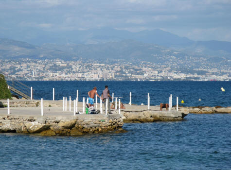 Fishing at Antibes, Cote d'Azur