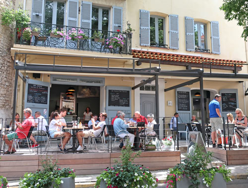 Dining in Antibes France